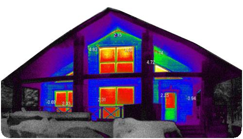 Тепловизионное обследование зданий, квартир, домов и любых других объектов ( от 2 500 руб. )